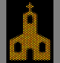 hexagon halftone christian church icon vector image