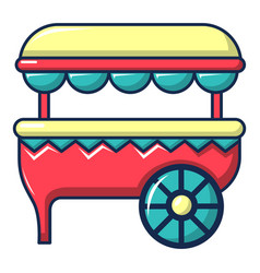 Ice cream cart icon cartoon style vector
