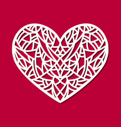 Laser cut heart ornament cutout pattern vector