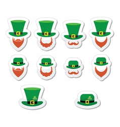 Leprechaun character for St Patricks Day in Irela vector image