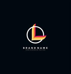 Letter l colorful logo design vector
