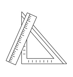 Line rulers school utensils to education and learn vector