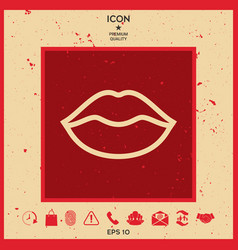 lips linel icon vector image