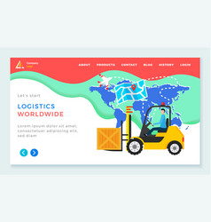 Logistics worldwide delivery orders and packs vector
