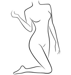 lower part of slender female body vector image