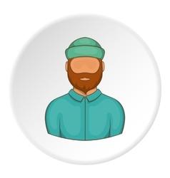Lumberjack icon cartoon style vector