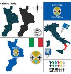 Map of Calabria vector