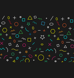 math pattern on black background color symbol vector image
