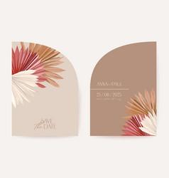 Modern geometric art deco wedding invitation vector
