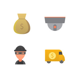 money flat icon set for flat style vector image