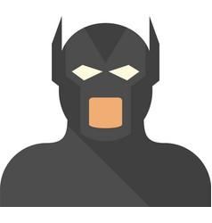 Movie superhero icon flat isolated vector