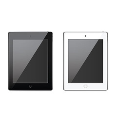 New realistic tablet black and white mock up vector