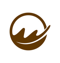oak leaf logo design vector image