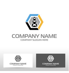 Oil industry logo design vector