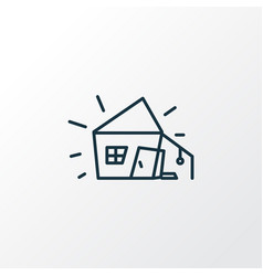 old hut icon line symbol premium quality isolated vector image