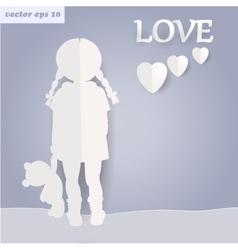 Paper girl vector