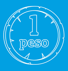 peso icon outline style vector image