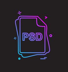 Psd file type icon design vector