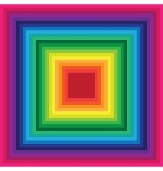Rainbow square background of colored lines vector