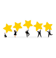 review feedback ranging vector image