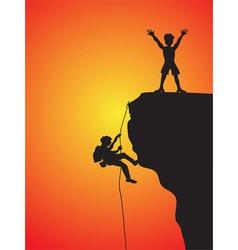 rock climbing vector image