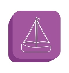 Sail boat icon design vector