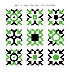 Set emblems design element-01 vector