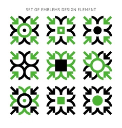 Set of emblems design element-01 vector image