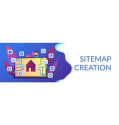 Sitemap creation concept banner header vector