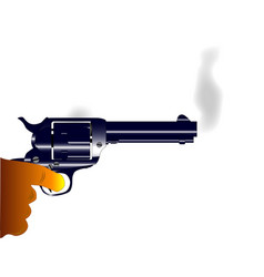 smoking gun vector image