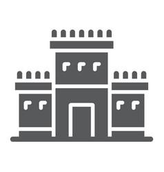 Solomon temple in jerusalem glyph icon religion vector