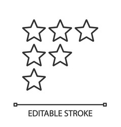 Stars rating linear icons vector