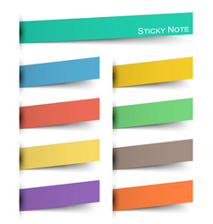 sticky note multicolor and inserted floating vector image