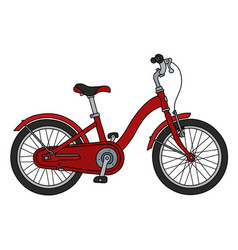the red city bicycle vector image
