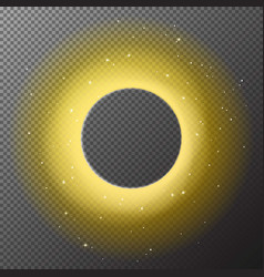 Transparent golden round shiny frame background wi vector