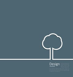 Tree standing alone symbol design webpage logo vector image