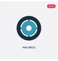 Two color hue circle icon from user interface vector