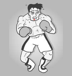 vintage boxing vector image