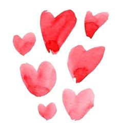 Watercolor heart set vector image
