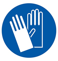 Wear gloves vector image