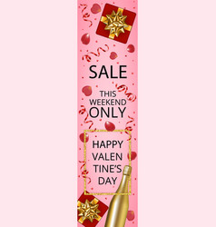 Web banner for valentines day sale vector