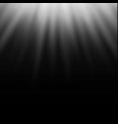 white light effect sun rays beams on black vector image
