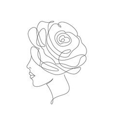 Woman on white background vector