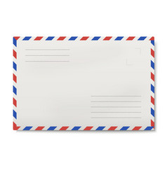 air mail white envelope isolated vector image vector image