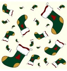 Christmas sock pattern vector image vector image