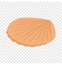 Pearl shell isometric icon vector