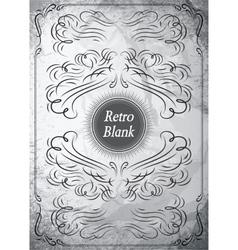 Vintage ornament on grunge background for design vector image vector image