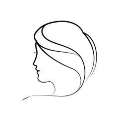 women head silhouette vector image vector image