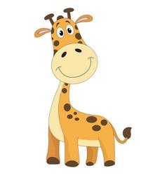 cute orange giraffe vector image
