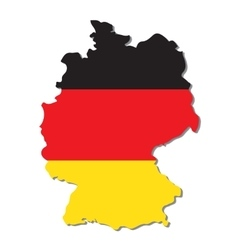 Germany map with flag vector image